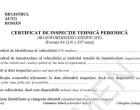 Un nou tip de certificat la finalizarea ITP
