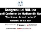 """Congresul al VIII-lea al Uniunii Centrelor de Mediere din Romania – """"Medierea, brand de tara"""""""