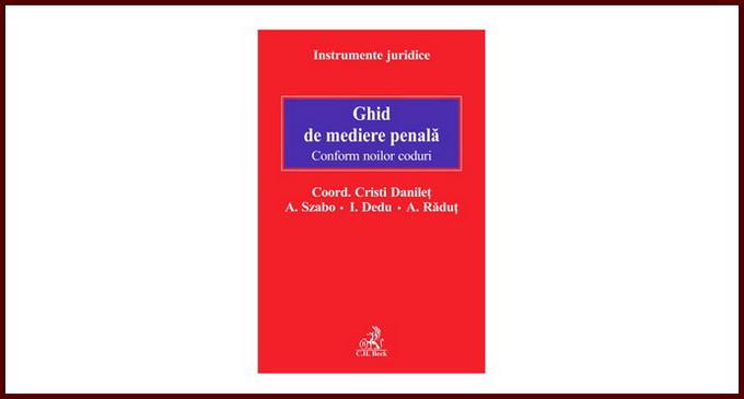 """Lansare de carte –  """"Ghid de mediere penala"""""""
