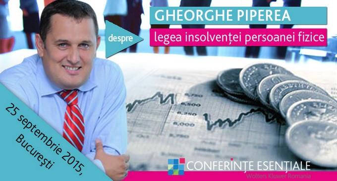 GHEORGHE PIPEREA  – conferinta despre insolventa persoanei fizice